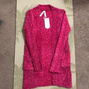 Knitted cozy pink sweater. NWT.